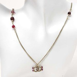 Authentic Chanel CC Necklace with Stone